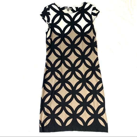 Roz & Ali Dresses & Skirts - Roz & Ali Size 4 Dress Black, Brown, And Cream